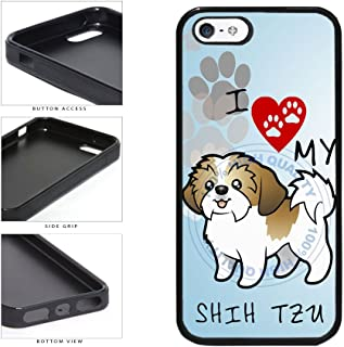 BleuReign(TM) I Love My Shih Tzu Dog Lover TPU RUBBER SILICONE Phone Case Back Cover For Apple iPhone 5 5s and iPhone SE