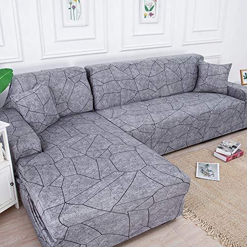 WXQY Funda de sofá elástica en Forma de L Funda de sofá elástica de algodón para Sala de Estar Funda de sofá a Prueba de Polvo Completa Funda de sillón A18 4 plazas