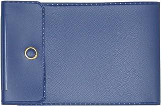 Dark Blue Vinyl Checkbook Cover for End-Stub Wallet Checks