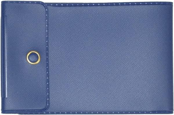 Dark Blue Vinyl Checkbook Cover For End Stub Wallet Checks