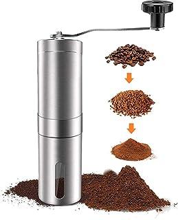 SFXFJ Manuell kaffekvarn med justerbar inställning, keramisk kaffekvarn, bärbar kaffekvarn i rostfritt stål för aeropress,...