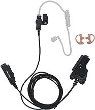 GoodQbuy 2 Wire Covert Acoustic Tube Earpiece Headset for Motorola Radio Walkie Talkie HT1000 XTS1500 GP900 MTX900 XTS5000 MT2000 MTX8000 Security Door Supervisor