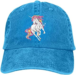 Unicorn Printing Men`s and Women`s Cotton Adjustable Baseball Cap,Quick Drying Truck Driver Cap