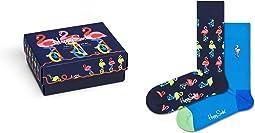 2-Pack Flamingo Socks Gift Set