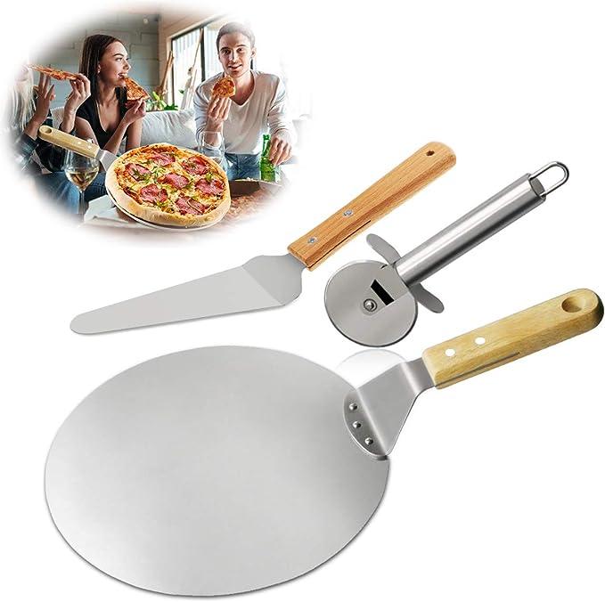 1293 opinioni per Pala Pizza Set, TedGem Pizza accessori, Acciaio Inossidabile Pala Pizza e