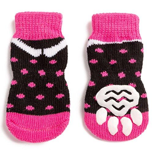 Harfkoko Pet Heroic Anti-Slip Knit Dog Socks&Cat Socks with Rubber Reinforcement, Anti-Slip Knit Dog...