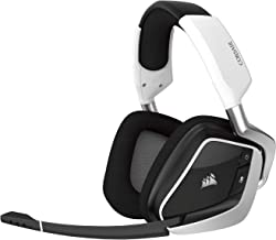 Corsair Void Pro RGB Wireless Gaming Headset Dolby 7.1 Surround Sound Headphones for PC Discord Certified 50mm Drivers White