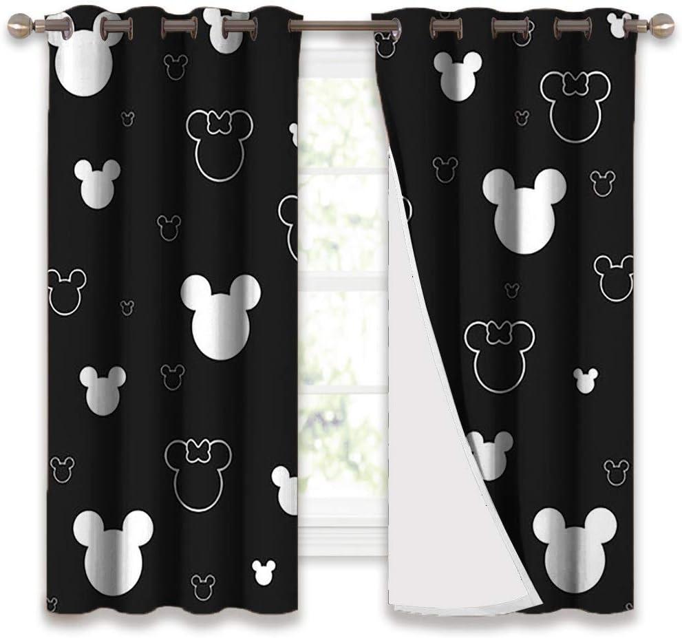 STTYE Decorative Curtains Mi-ckey Mouse Mi-nnie Max 80% OFF Grommet Genuine