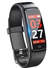 スマートウォッチ 血圧 心拍計 歩数計 カラースクリーン IP67防水 スマートブレスレット ランニングモード 活動量計 20種類アラーム設定可 電話着信 Line通知 睡眠検測 遠隔カメラ iphone&Android 日本語対応