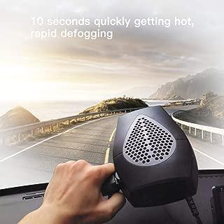 Car Heater,Auto Heater Fan,Car Defogger,Ferryone Fast Heating Quickly Defrosts Defogger 12V 150W Auto Ceramic Heater Fan 3-Outlet Plug in Cig Lighter (Black) (Renewed)