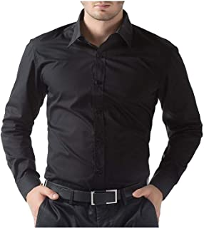 ZAKOD Plain Cotton Shirts for Men for Casual Use,Normal Wear Shirts,Available Sizes M=38,L=40,XL=42,100% Pure Cotton Shirts,6 Colors Available