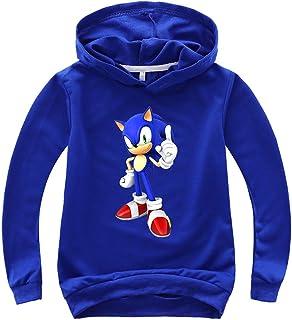 NautySaurs - Sudadera de manga larga para niños con capucha Sonic The Hedgehog