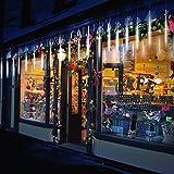 TurnRaise 50cm 10 Tubo 540 LED Meteor Luci Natale Luci, IP65 Impermeabili Meteor Shower Light per Festa di Nozze Decorazione All'aperto. (Bianco)