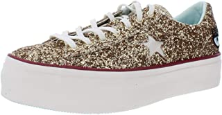 Womens One Star Glitter Low Top Platform Sneakers