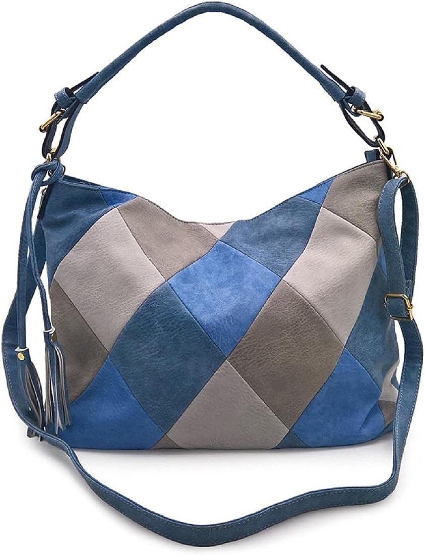 Lovebags Retro Stitching Shoulder Bag Fashion Pu Leather Women Trend Messenger Bag Handbag