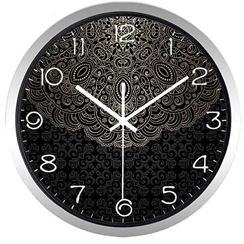 Reloj de Pared Reloj De Pared Creativo Lotus Totem De China, Lucky Cloud Clock para Hombres, Mujeres, Sala De Estar, 12 Pulgadas, B235S
