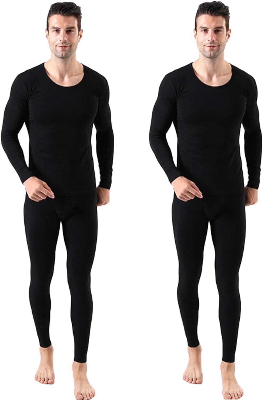 Japarismo Thermal Underwear for Men Ultra Soft Long Johns Top & Bottom Set Base Layer Cotton Long Sleeve Shirt Pants