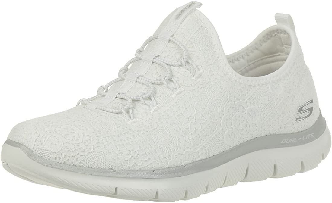 Skechers Flex Appeal Chicago Mall 2.0 Miami Mall Clear Slip Cut Sneakers On Womens