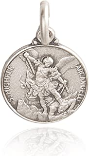 Gold Urbanowicz Medaglia d'Argento San Michele Arcangelo. Medaglione/Collana/ciondoli in Argento 925 1.9g