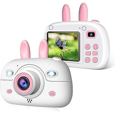 2NLF Macchina Fotografica per Bambini, Bambina Fotocamera Digitale Portatile Selfie Videocamera per Bambine 2.4 Pollici LCD Outdoor Travel Portatile Fotocamera 800MP 1080P HD con Scheda SD da 32 GB