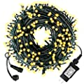 Diojilad LED Christmas Lights Outdoor Tree Lights Upgraded 105Ft 300LED UL Certified End-to-End Plug, 8 Modes Waterproof Outdoor Indoor Fairy Lights for Christmas, Patio, Wedding, Party(Warm White)
