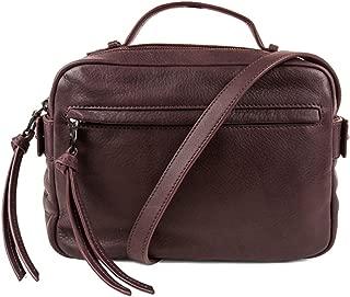 Liv Paprika Leather Mini Camera Crossbody Bag