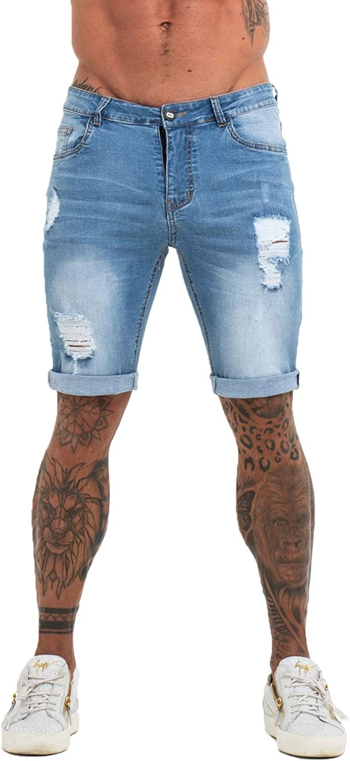 GINGTTO Men's Fashion Ripped Short Casual Jeans wit Denim Shorts SALENEW very popular! Gifts