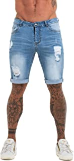 Men's Fashion Ripped Short Jeans Casual Denim Shorts with Hole