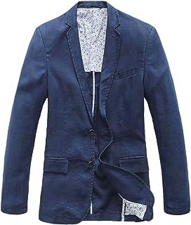 chouyatou Men's Lightweight Half Lined Two-Button Suit Blazer