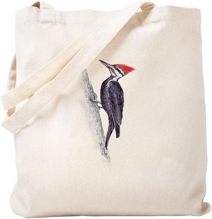 CafePress Pileated Woodpecker Tote Bag Natural Canvas Tote Bag, Reusable Shopping Bag
