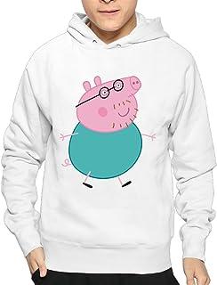 Boy Peppa Pig Cartoon Anime Cool Hooded Sweatshirt Pullover