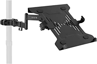 VIVO Steel Universal Full Motion Pole Mount Laptop Holder Arm with Removable 75mm and 100mm VESA Plate, Fits 10 to 15.6 in...