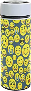 WIHVE 12oz Insulated Water Bottle Emoticons Emoji Stainless Steel Double Vacuum Flask