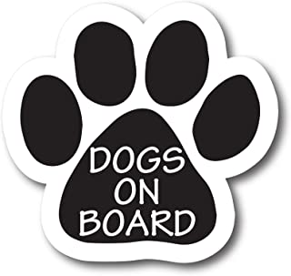 Magnet Me Up Dogs on Board Bold Print Pawprint Car Magnet Paw Print Auto Truck Decal Magnet