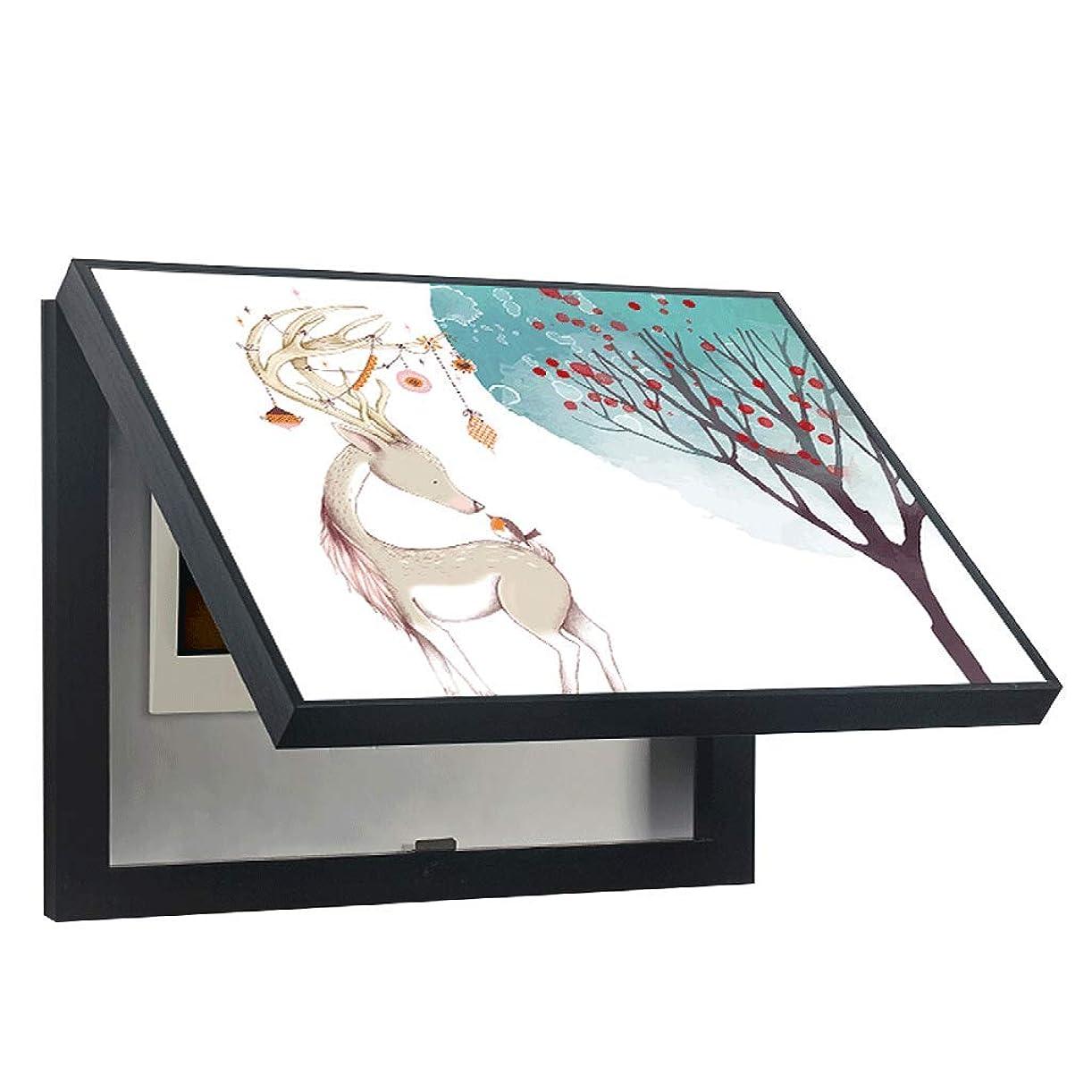 メカニック勢い発掘するQIQIDEDIAN 流通ボックスの閉塞の絵はメーターボックスのプッシュと引っ張りが可能 (Color : Black, Size : (50*40cm 40*30cm)-Flip cover)
