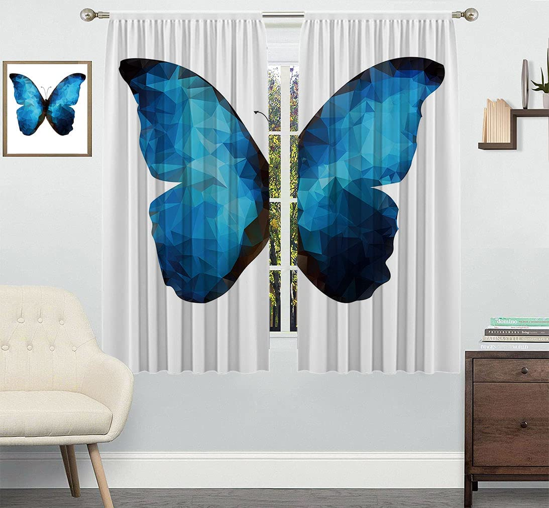 Butterfly Over item handling Customized Curtain Modern Max 70% OFF Image Insect in Bug Mosa of