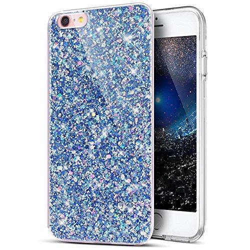Uposao Coque iPhone 7 Plus / 8 PlusEtui Glitter, Bling Gliter Paillette Coque iPhone 8 Plus Transparent Cristal de Scintilla Etui Silicone TPU Coque de Protection pour iPhone 7 Plus / 8 Plus