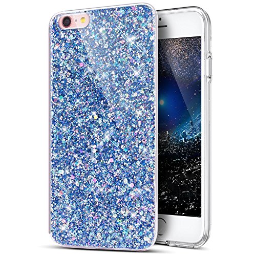 Uposao Coque iPhone 7 Plus / 8 PlusEtui Glitter, Bling Gliter Paillette Coque iPhone 8 Plus Transparent Cristal de Scintilla Etui Silicone TPU Coque de Protection pour iPhone 7 Plus / 8 Plus