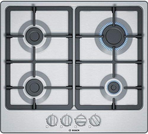 Bosch Electroménager PGP6B5B90 Plaque gaz - Plaque de cuisson 4 foyers [Classe énergétique D] 6 L58,2cm x P52cm - Aci...