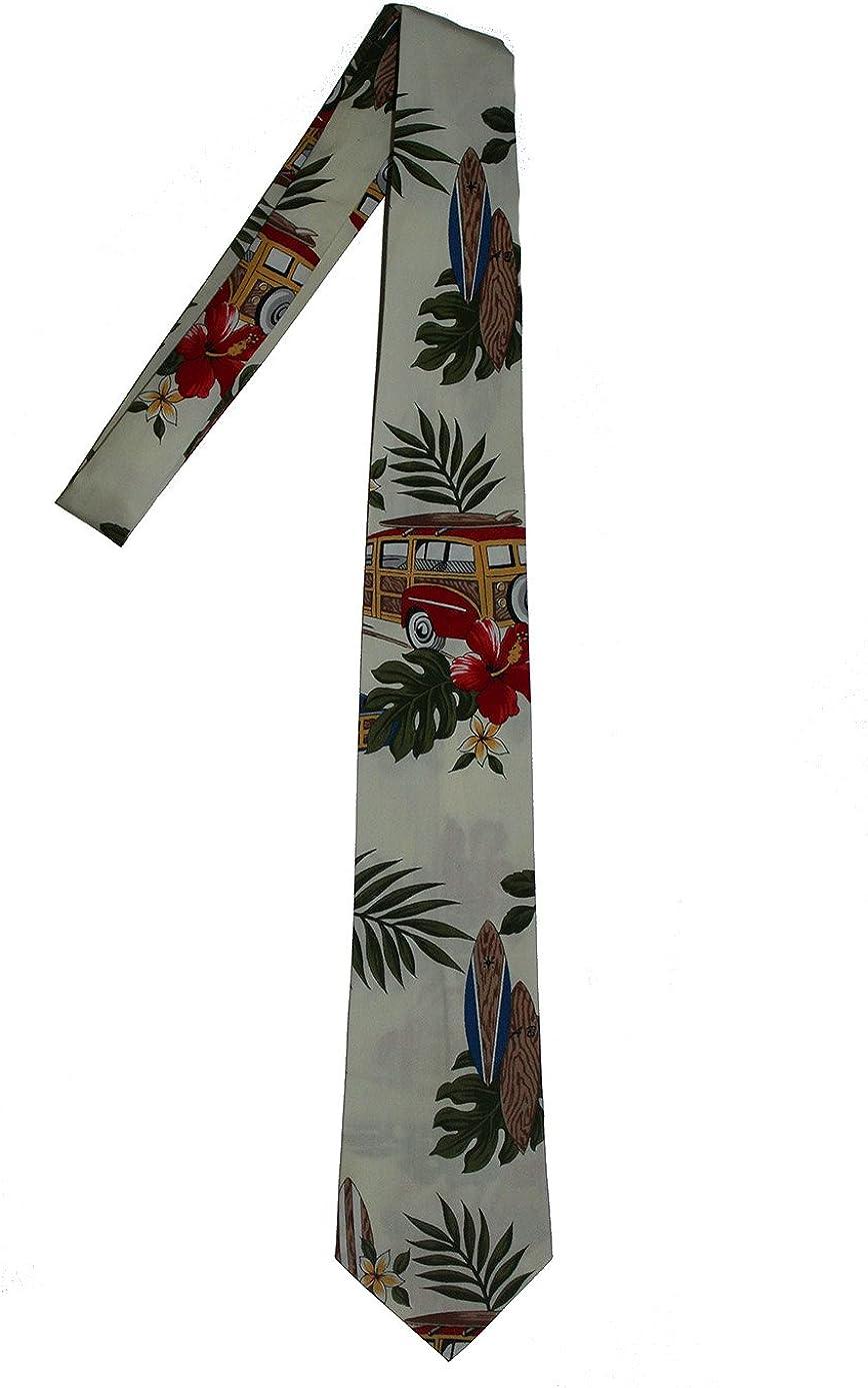 Hawaii Neckties - Yellow Surfboard