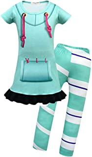 Joyfunny Wreck It Ralph Jumpsuit Vanellope Von Schweetz Dress Up Costume Kids Boys Girls