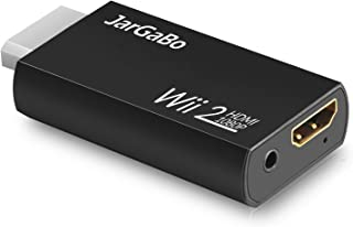 Wii to HDMI Adapter, JarGaBo Wii to HDMI Converter Output 720P/1080P Video Audio, Supports All Wii Display Modes (NTSC 480I, 480P,PAL 576I), Black