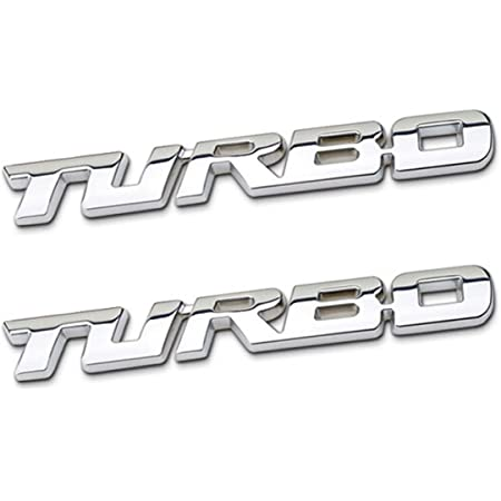 3D Decal Car Acces turbo Letter Style Emblem Badge Metal Nice Sticker E6Y4