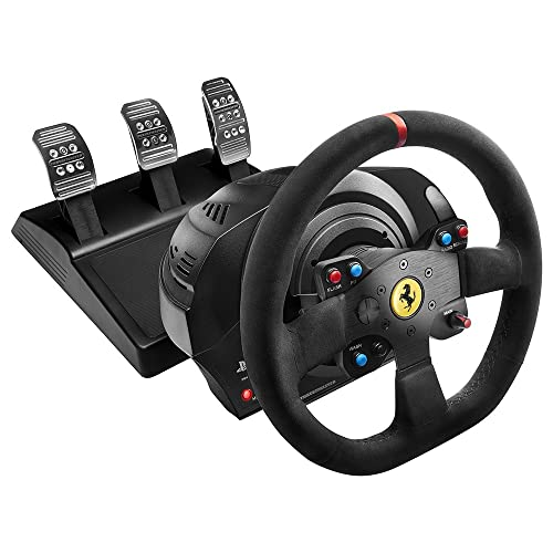 Thrustmaster T300 Ferrari Integral Alcantara Edition - Volante para PS4/PS3/PC, Force