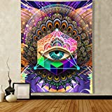 ENJOHOS Psychedelic Wall Tapestry Cool Egyptian Eye of Horus Boho Mandala Eye Tapestry Wall Hanging Colorful Hippie Bohemian Wall Tapestry for Bedroom Living Room Dorm(Eye,W44' x T60')