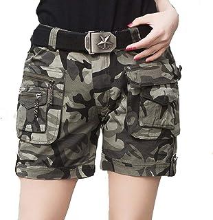 1d707e73e99b15 Lannister Pantaloni Corti da Donna Cotone da Mimetico Multitasche in Tasca  Abbigliamento Festivo Abbigliamento Festivo Army