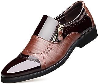 [DOUERY LTD] ビジネスシューズ メンズ 革靴 スリッポン ローファーカジュアル おしゃれ 宴会 パーティー 紳士靴 カジュアル イギリス風 春 24 cm 28 cm ブラック ブラウンプラスベルベット