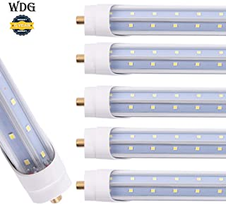 6 Pack Led T8 V Shaped 6FT 40W Tube Light with FA8 Base ETL Listed Ballast Bypass Indoor 6 Foot Beer Cooler Lamp White Daylight 6000k Double End Powered Input Commercial Household Lighting