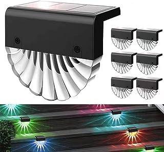 Solar Deck Lights Outdoor, Outdoor Lighting Backyard Decor Outside Step Lights Garden Post Fence Lights (6 PCS)