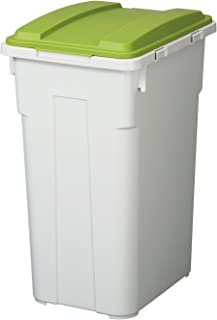 トンボ 連結 カラー フタ付 分別 ペール 45L つながる ゴミ箱 グリーン